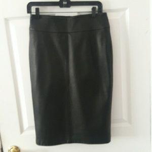 Dolce & Gabbana genuine Italian leather skirt.