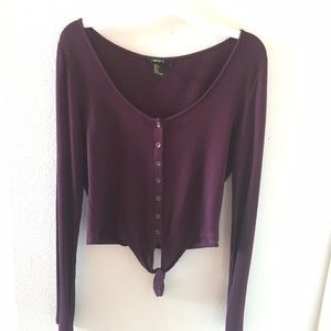 Cropped maroon top