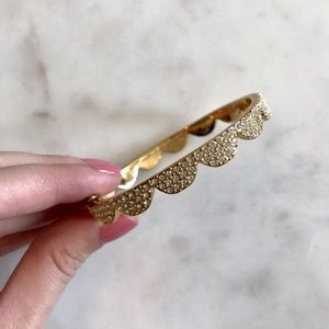 Authentic Kate Spade pave scallop hinged bangle
