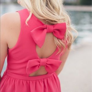 Soprano Pink Bow Back Dress 🎀 Medium
