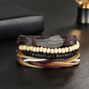 Men's Angel Wing Multilayer Bracelet