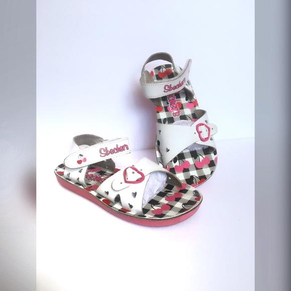 Buttercups White Sandals Girl's Skechers Toddler GUMzVqpS