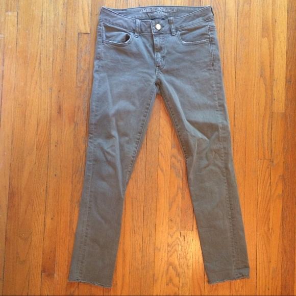 0ea6f8835d721 American Eagle Outfitters Denim - AEO Denim X Jegging Crop - Olive Green  Skinny