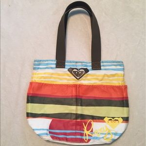 Roxy canvas tote with 2 large front pockets