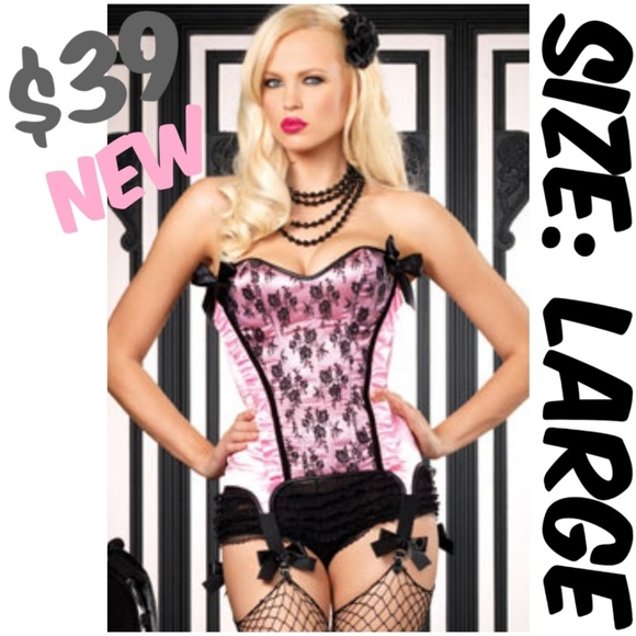 439f6c145 Burlesque Pin Up Top Clothing Lace-Up Corset⚡