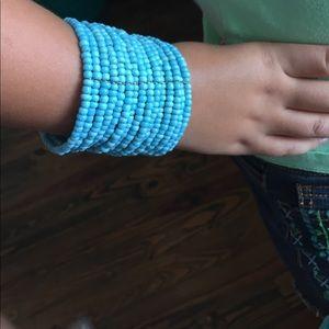 Jewelry - Turquoise Beaded Cuff Bracelet