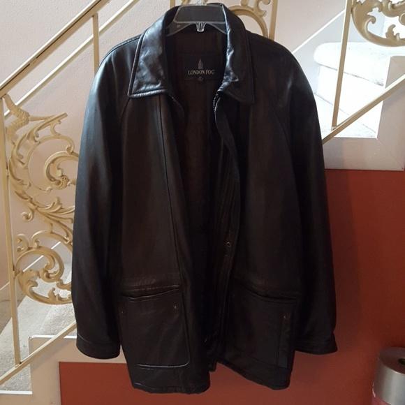 London Fog Jackets Amp Coats Mens Xl Leather Jacket Poshmark