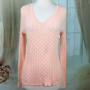 Sonoma Satin Peach Long Sleeved Sweater