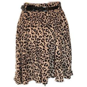Torrid skater skirt with black leopard print