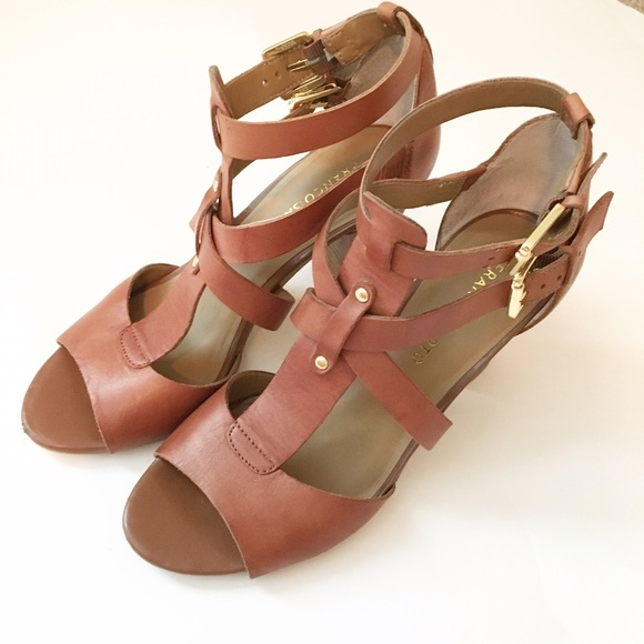 d1077e8d928 Franco Sarto Shoes - Franco Sarto Brown Strappy Block Heels