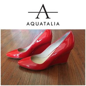 New Red Aquatalia Patent Leather Heels Size 9.5