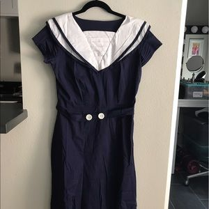 Shabby Apple navy blue dress