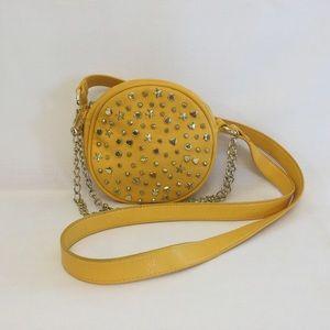 Betsey Johnson Yellow Leather Crossbody