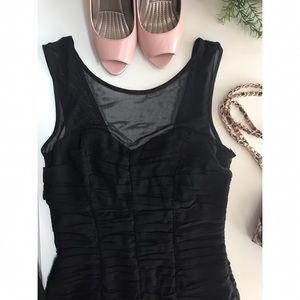 Forever 21 Little Black Ruched Dress