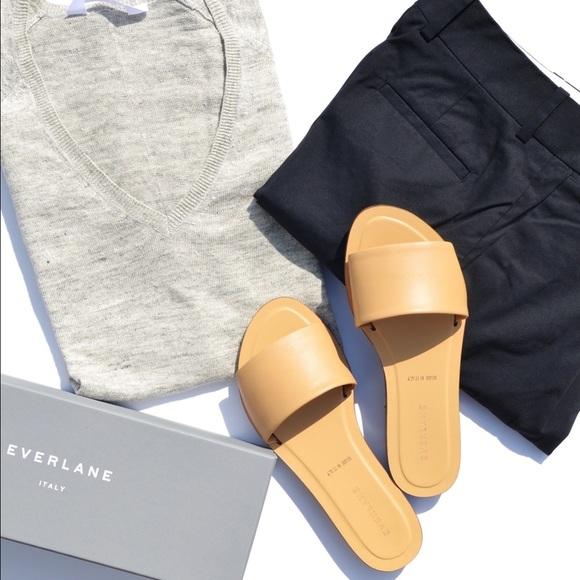 29 Off Everlane Shoes Everlane Slide Sandals Sand