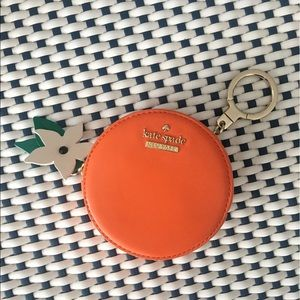 Kate Spade Orange Coin Purse Keychain 🍊
