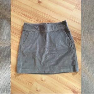 Gray mini skirt, Banana Republic