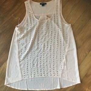 Soft pink sequin tank