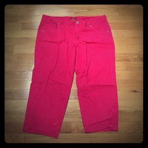 Merona hot pink Capri pants 14