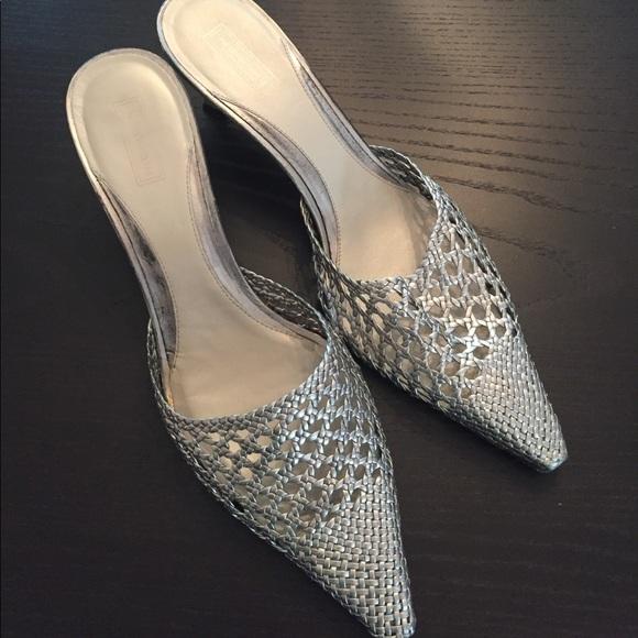 ff18d309e3f Nordstrom silver kitten heels size 12. M 59614b44c2845607670492b8