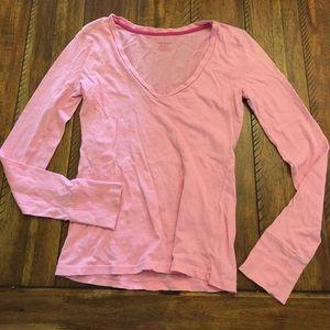 American Eagle Pink Long Sleeve Cotton TShirt