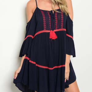 Dresses & Skirts - Boho Chic Navy Blue dress