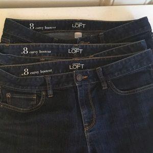 LOFT Jeans - Ann Taylor Loft Curvy Bootcut Jeans size 8