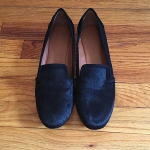 Banana Republic Braxton Black Hairy Flats