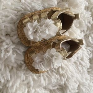 Other - Newborn gold gladiator style sandals