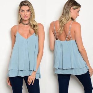 Tops - Sky Blue Top