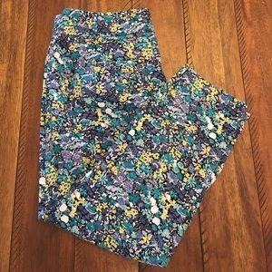 Ann Taylor Loft Marisa Floral Pant - size 6