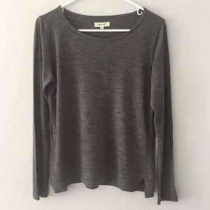 Madewell Gray Long Sleeve Tee