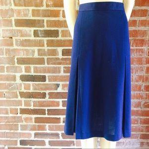 Vintage 70|80s Navy Block Pleat Skirt