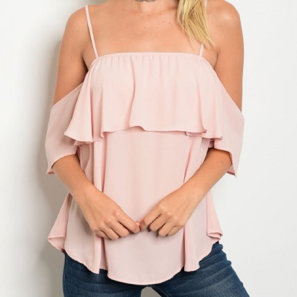 Tops - !!! LAST ONE, IN SMALL!! Blush Off Shoulder Top