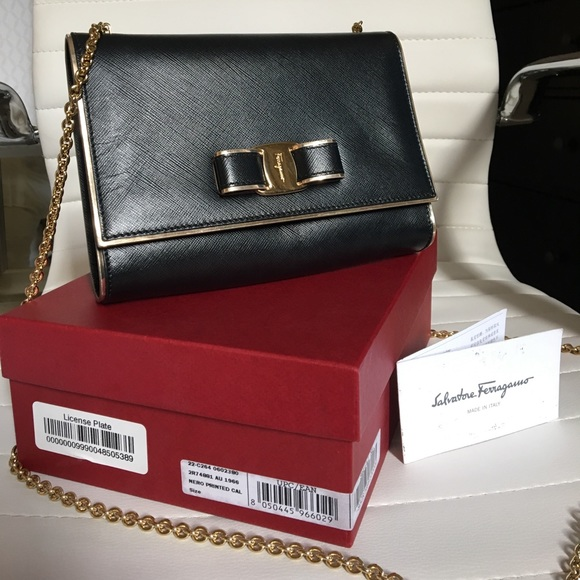 681caadabf75 M 596159abc6c7955e9b04c400. Other Bags you may like. Authentic Salvatore  Ferragamo mini bag