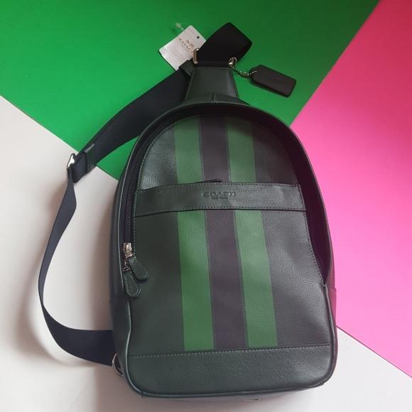 2055fc8b24e1 Coach Charles Pack Varsity Leather Sling Bag