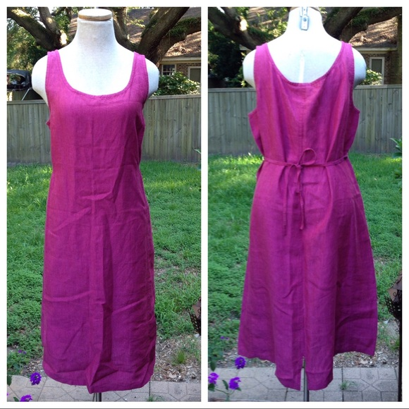 Eileen Fisher Eileen Fisher Irish Linen Purple Pink