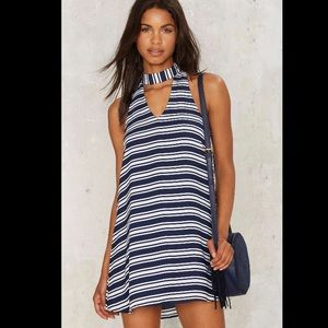 Nasty Gal Dressed to the Lines Cutout Mini Dress
