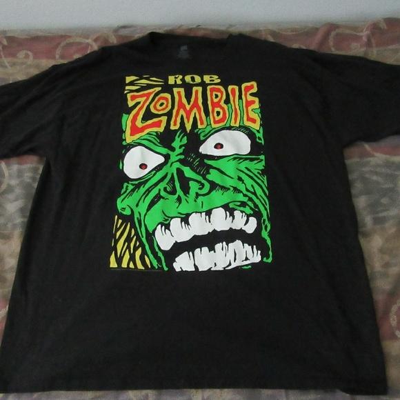 Vintage White Zombie T-Shirt Rob Zombie Green xxl