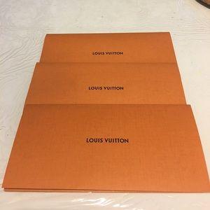 3 Louis Vuitton envelopes