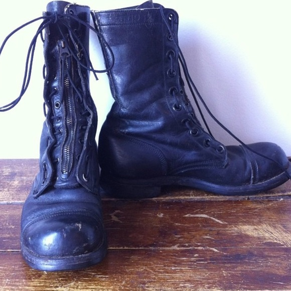 fc0ab77a9ddba BF Goodrich Vintage combat/moto boots Dated 1961