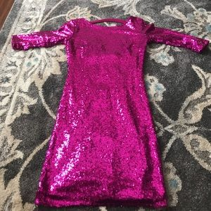 Dresses & Skirts - Sequined pink party dress