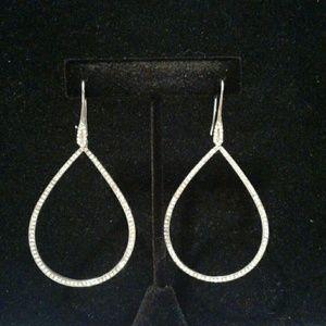 Jewelry - Sparkling Silver Long  Earrings