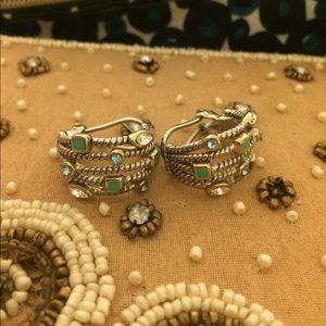Jewelry - Sterling silver earrings with turquoise accents