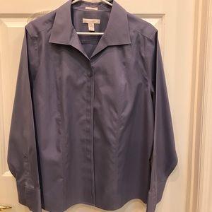 Chico 39 s chico 39 s tunic top blouse black white stripe sz for Chicos no iron shirts