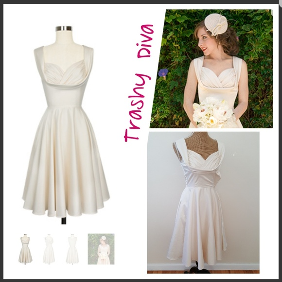 Trashy Diva By Candice Gwinn Honey Satin Dress