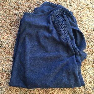 Navy Ana shirt size large