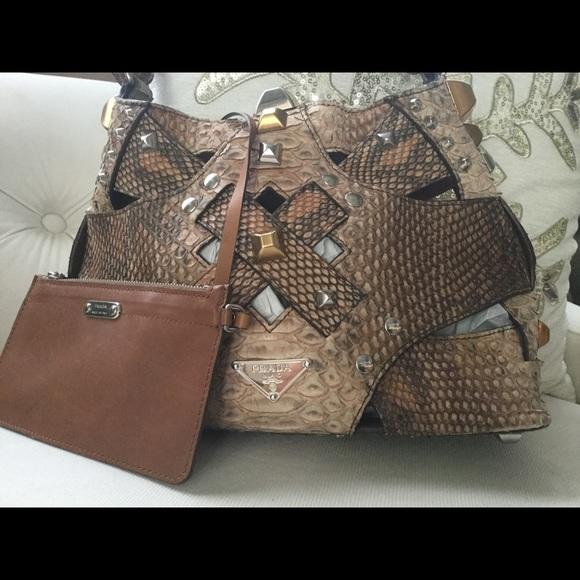 d56dff360e ♥️SALE♥️PRADA studded python bucket bag