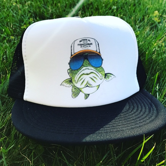 20 off fishskale clothing other fishskale big bass for Bass fishing hats