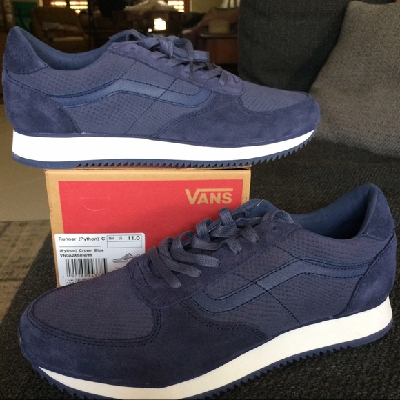 Vans Shoes | New In Box Vans Runner Suede Python Navy | Poshmark